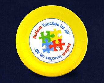 20 Autism Awareness Dinner Paper Plates (20 Plates) (PPLATE-2ATL)