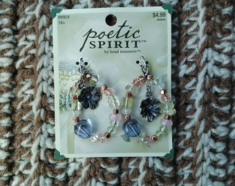 DESTASH - Poetric Spirits Beaded Oval Drop Earring Components - Ready to Ship
