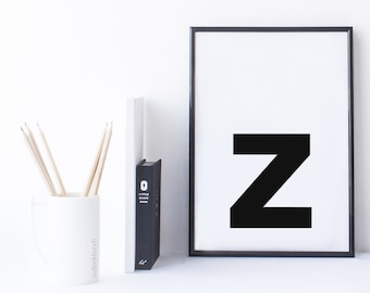 Quote Print and/or Frame - Letter 'z'