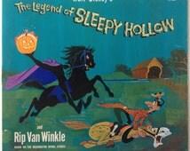 Walt Disney's The Legend of Sleepy Hollow and Rip Van Winkle  LP Vinyl Record Album, Disneyland - 1285, Story, 1969