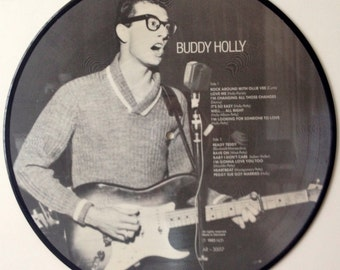 Buddy Holly - Picture Disc LP Vinyl Record Album, All Round Trading, AR-30017, 1983, Original Pressing