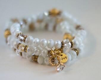 Set of 3 stacking bracelets