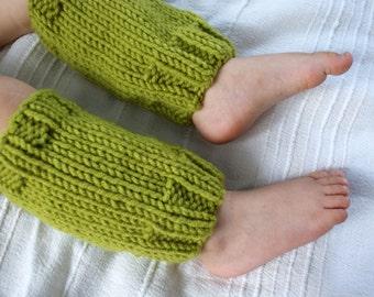 Baby Leg Warmers, Knit Leg Warmers Green, Olive Leg Warmers, Green Leg Warmers, Girls Leg Warmers, Boys Leg Warmers