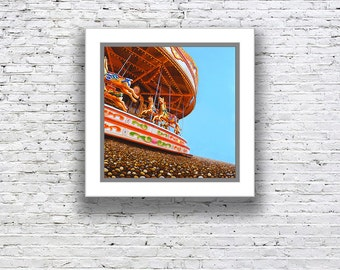Paper print with mount 'A day at the races'