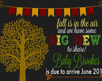 Fall Pregnancy Announcement File - Fall - Pregnancy - Announcement - Pregnancy Announcement - Photo Props - Baby Announcement - FALL