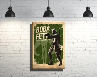 Star Wars Boba Fett framed Canvas Wall Art