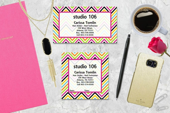 Chevron Gift Tags, Personalized Gift Tags, Bright Chevron, Tags, Business Cards, Calling Cards, Appointment Cards
