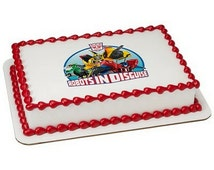Transformers Robots In Disguise Licensed Birthday - Edible Cake and Cupcake Topper For Birthday's and Parties! - D38313
