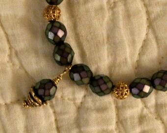Deep Purple Stretchy Bracelet