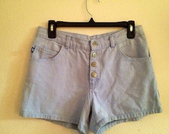 High Waisted Denim Shorts 28''