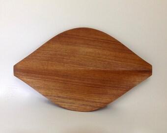 N.C.C. National Crafts Council Teak Leaf Tray by Shigemichi Aomine