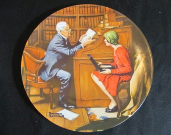 """Norman Rockwell Plates """"The Storyteller"""" The Tycoon, The Professor and more Knowles Collection Vintage 1980s CHOICE"""
