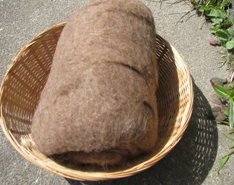 British Shetland Wool Batts Natural Moorit 100g/200g- 3.52/7.04oz Batts Wet/Needle Felting/Core Wool/Spinning