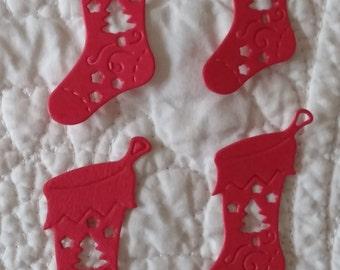 Christmas Stocking Die-Cut; Detailed; Set of 4