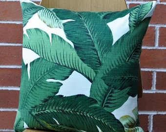 Palm Leaf Cushion Cover, Pillow Cover,  Outdoor Tropical Pillows.