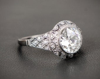 2.45ct Edwardian Style Engagement Rijng