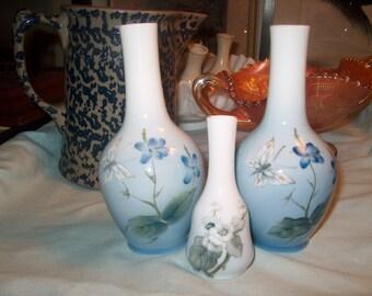 3 Vintage Royal Copenhagen Denmark Vases, Butterfly (Price for All), WAS 30.00 - 20% = 24.00