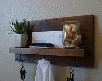 Modern Rustic Entry Coat Rack Shelf