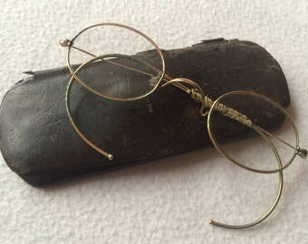 Antique Eye Glasses With Case