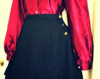 Gothic Lolita Cotton Ruffle Skirt ( Made To Order )