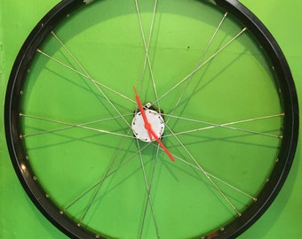 Bicycle wheel clocks by AsBeAu *can be customised*