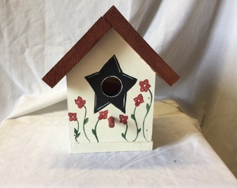 Hand painted bird house