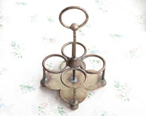 Antique Condiments Carrier - Silver Plated - Triple Deposit Mappin and webbs princes plate london & sheffield