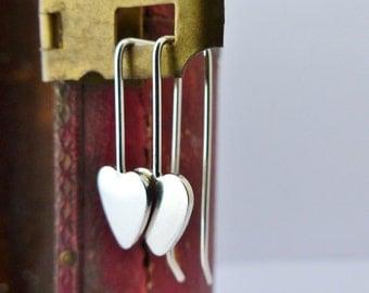 Dinky Heart Drop Earrings