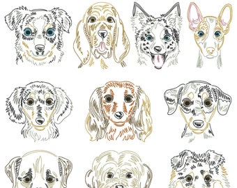 Dog breeds part 17 for the border 10x10cm
