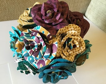 Made to Order Multicolored paper flower bouquet, centerpiece, wedding bouquet