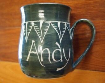 Custom name Coffee mug stoneware mug, personalised mug, customised mug, name mug
