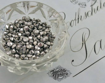 PP23 SS11 Marcasite Rhinestones Chatons - Early 1918-1938 Loose Marcasite Chatons - ULTRA RARE Loose Marcasite Rhinestones - 16pcs