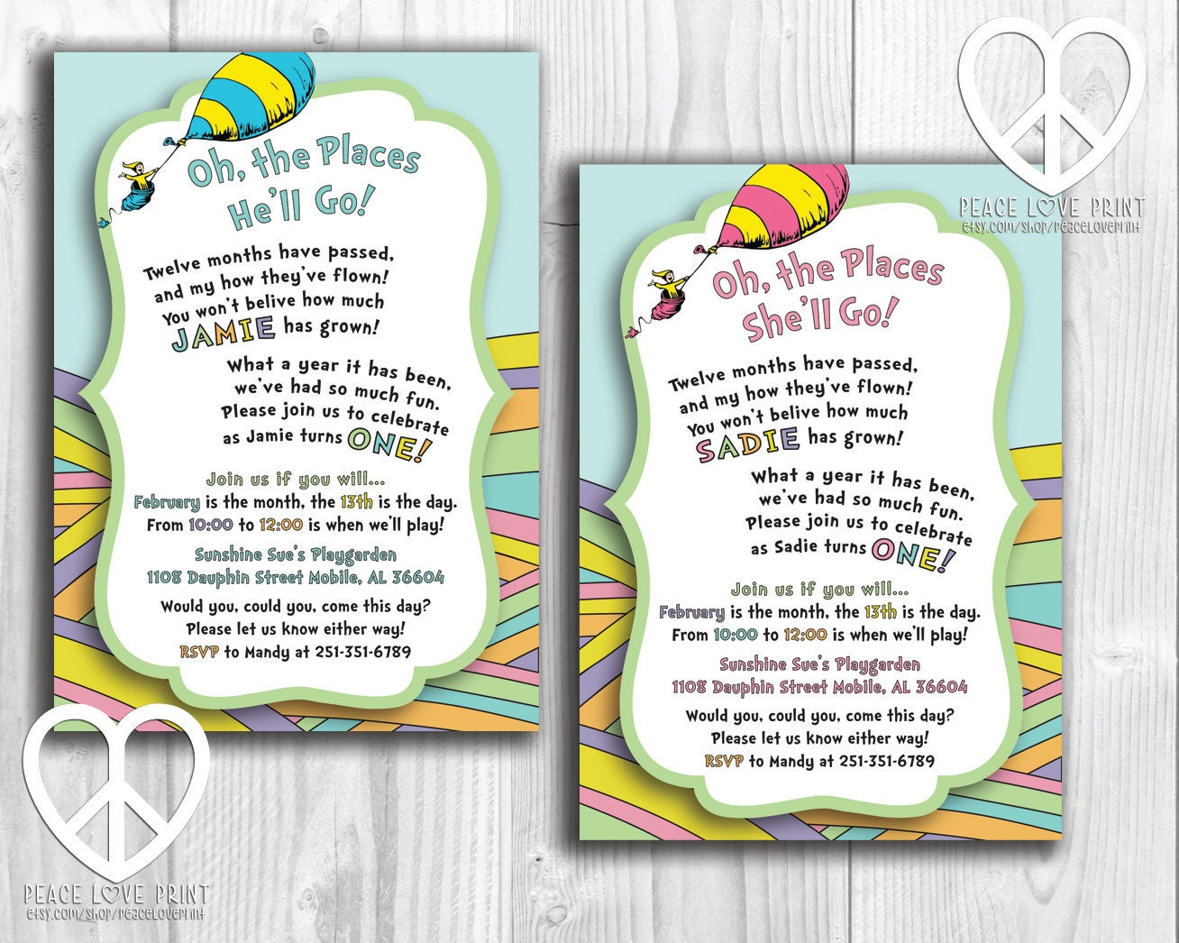 Oh The Places You 39 Ll Go Printable Birthday Invitation