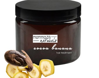 Natural Deep Conditioning Banana Chocolate Smoothie Hair Mask Treatment