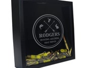 Shotgun Shell Display Case, Custom Bullet Casing Display, Personalized Shotgun Shell Shadow Box, Personalized Groomsman Gift  [HUNT-4]