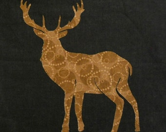 Deer Silhouette Quilt Applique Pattern Design PDF