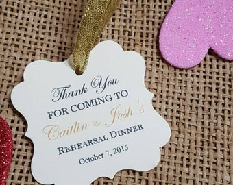 """Personalized Favor Tags 2x2"""", Wedding tags, Thank You tags, Favor tags, Gift tags, cutlery tags, cutlery, rehearsal  dinner"""