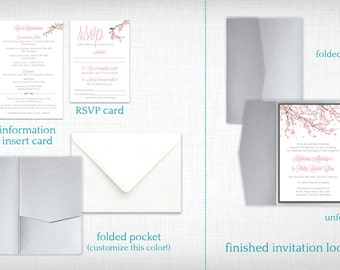 Wedding Invitations: Cherry Blossom