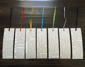 Harry Potter Bookmarks (Set of 7) Typed on Typewriter
