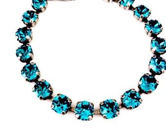 "NEW SIZE! ""Dainty Collection""- Indicolite Swarovski Crystal Bracelet"