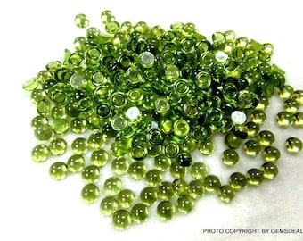 5 pcs 6mm Peridot Cabochon Round Gemstone, Peridot Round Cabochon, AAA Quality 100% Natural Peridot Round Cabochon Calibrated Size Gemstone