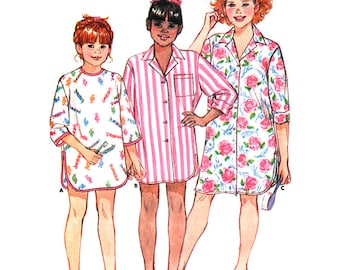 Butterick Sewing Pattern 3602 Girls' Nightshirt  Size:  12-14  Used