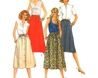 McCall's Sewing Pattern 7929 Misses' Skirts  size:  Petite 6-8  Uncut