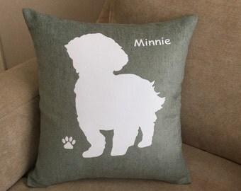 Personalised Lhasa Apso Dog Cushion