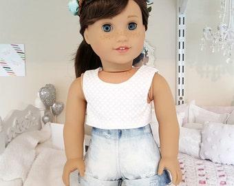 18 inch doll acid wash shorts
