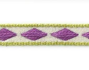Domino lilac - Rhombus design