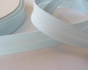 Cotton bias tape 40 / 20 mm Ministripes - mint