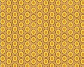 Mustard Oval Elements - Art Gallery Fabrics - Yellow - Maize - OE-921