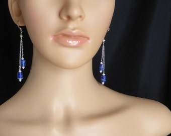 Quality Lapis Lazuli and sterling silver beads