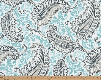 PREMIER PRINT Shannon Canal Twill, Pillow Covers, Fabric By The Yard-Minimum 2 yards
